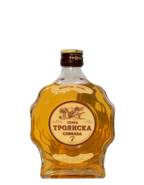 Alter Pflaumenbrand TROYANSKA SLIVOVA 7 Jahre Fassreife